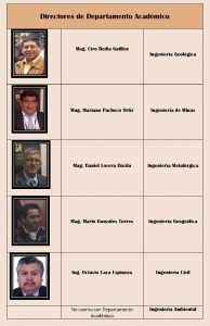 Directores de Dep. Academico
